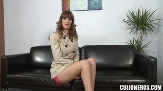 Carol Vega is slim, tall and sexy read-head