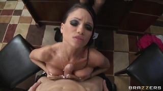 Audrey Bitoni,Johnny Sins and Raven Bay have fun