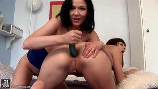 Anne Angel and Kirsten use dildo
