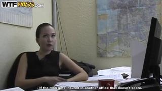 Adorable secretary Natasha gets naughty in office