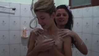 Vicktoria Tiffany in hot lesbian bitches enjoy sex at hotel room