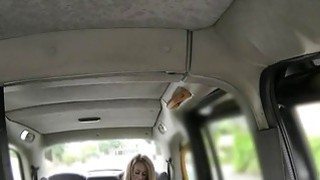 Slim londe gets big dick in a fake taxi