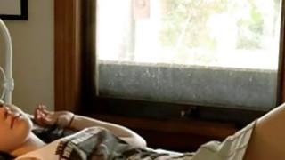 Super hottie teenie fingering In her bed