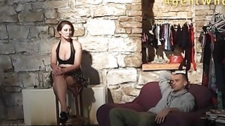 Sexy guy does interview about porn in backstage clip