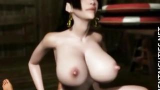 Horny 3D anime cutie gets pussy jizzed