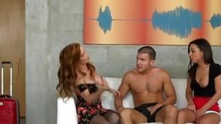 Teen Amara Romani gets a lesson in dick pleasing from stepmom Diamond Foxx