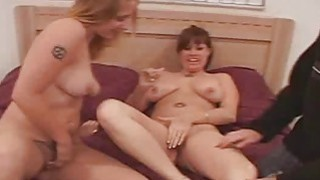 Wild threesome action with hot bi chicks Heather and Kelly