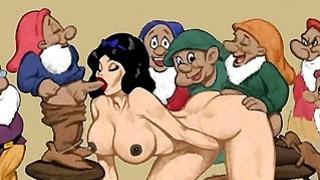 Snowwhite and dwarfs hentai orgy