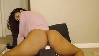 Brunette camgirl showing her ideal fat butt on webcam