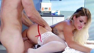 Huge titted nurse squirts and slammed