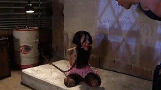 Debt collector anal bangs his slave