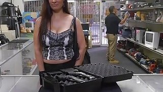 Big ass Latina milf fucked from behing in the pawnshop