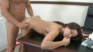 Sex goddess Ann Marie Rios fucks in the office and gets cumshot