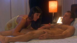 India Summer is giving a hot blowjob and gets her pussy fingered