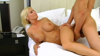Disgraceful blonde chick Diamond Foxxx got a huge juicy jugs