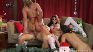 Christmas party with Jessica Jaymes & Alanah Rae & Kortney Kane