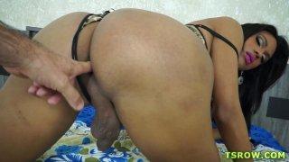 Latina TS Mylla Pereira Bareback Hardcore