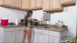 Hot Maid Cleans my Cock